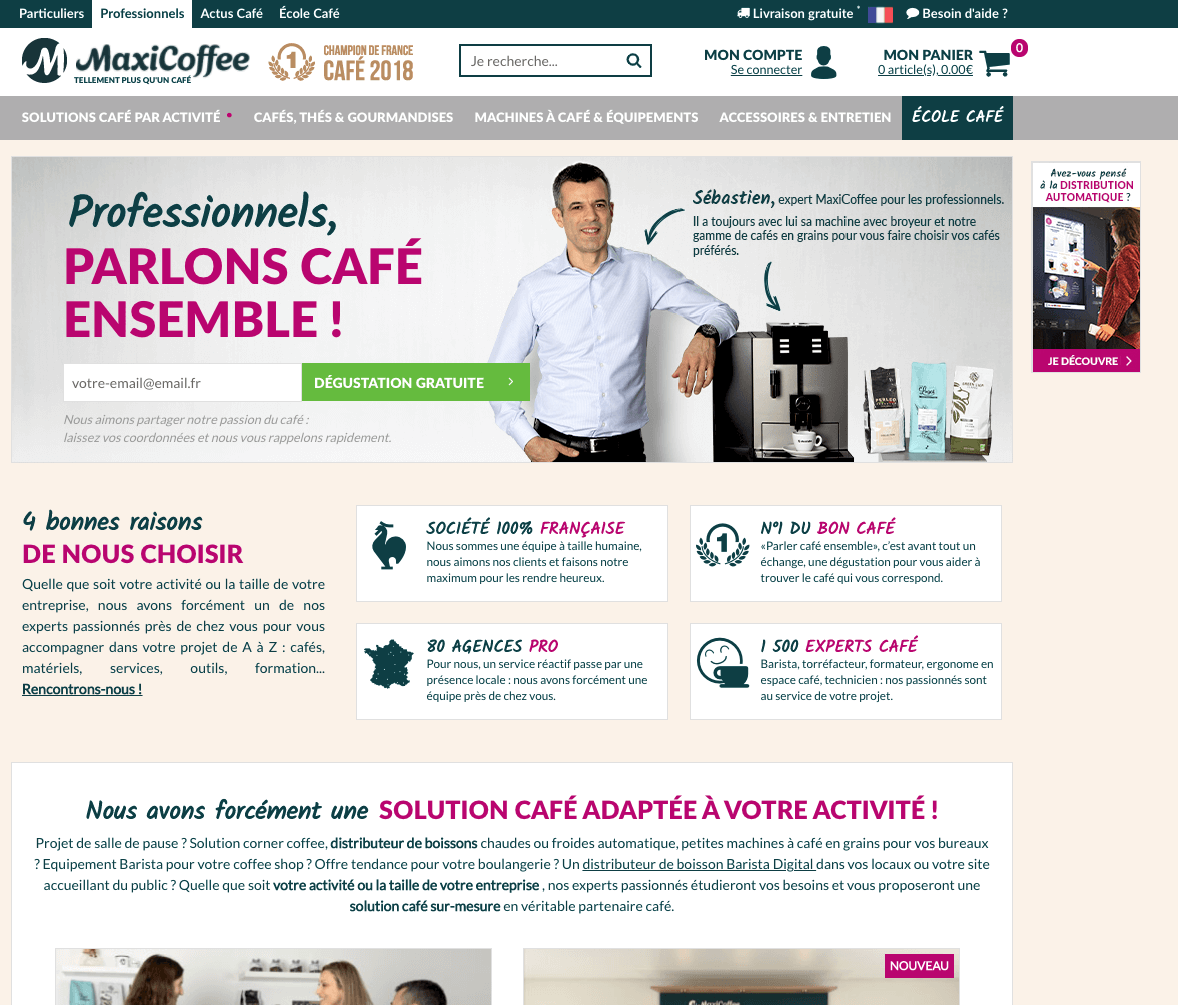 exemple d'un site optimisé pour l'inbound marketing