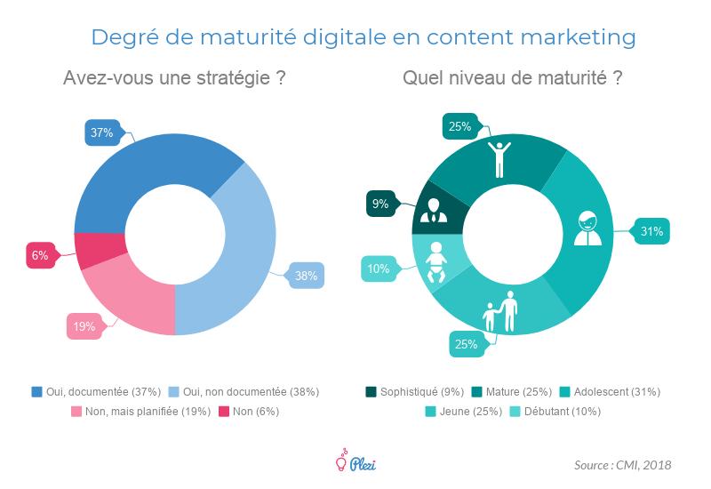 Statistiques : Degré de maturité digitale des entreprises B2B en Content Marketing