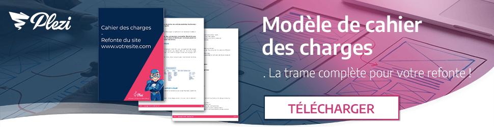 télécharger le modèle de cahier des charges de refonte de site web