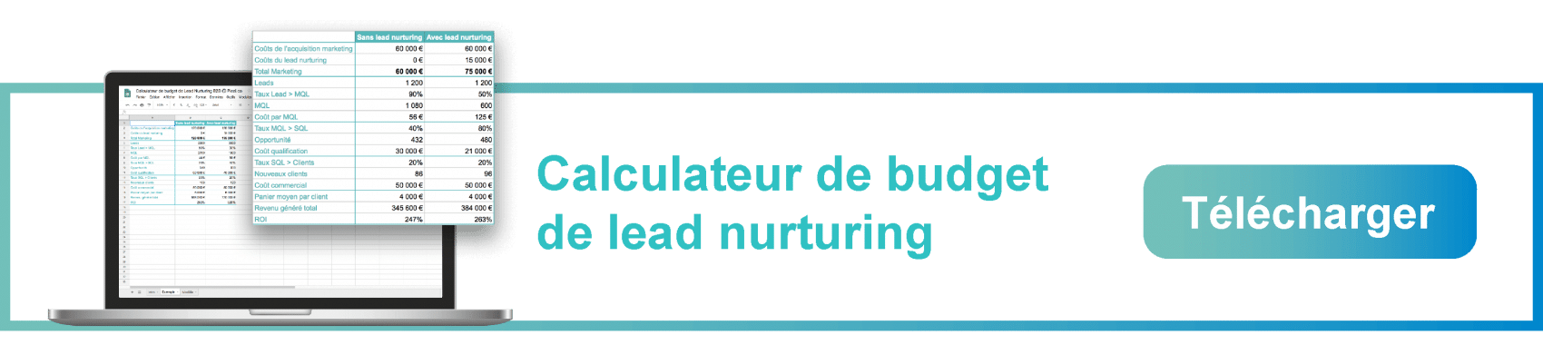 Télécharger le calculateur de budget de lead nurturing