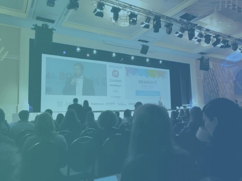 Photo de la conférence SEO Search Y 2019
