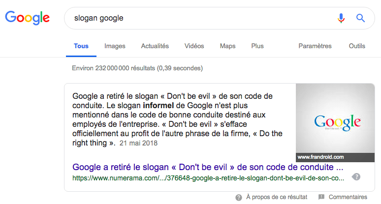 slogan google dont be evil
