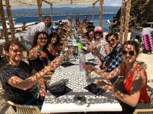 L'équipe de Plezi lors du Plezi Sun 2018