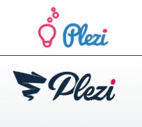 Logo de Plezi avant et après la refonte