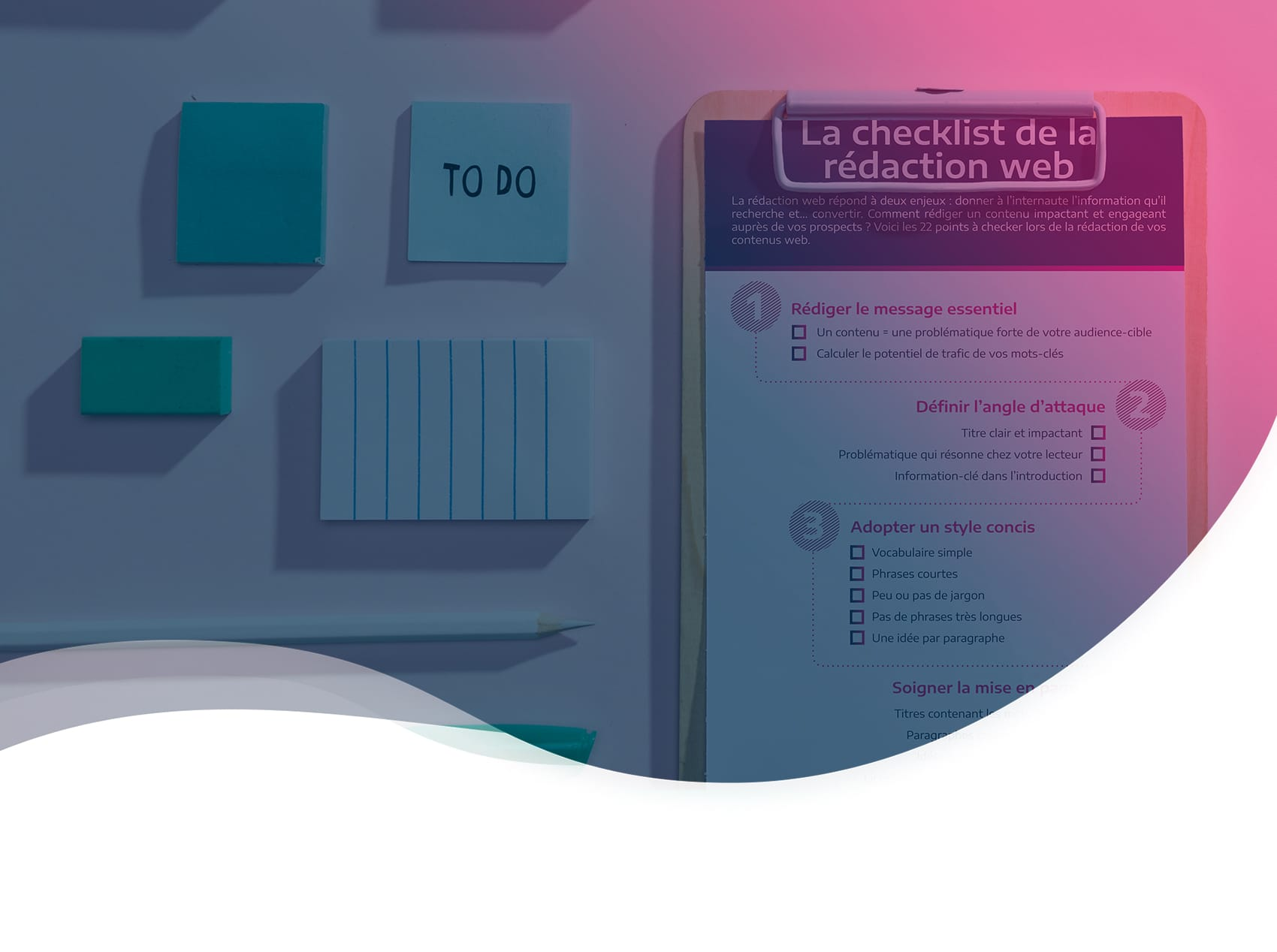 Infographie – La checklist de la rédaction web
