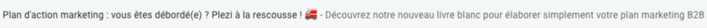 capture d'écran d'un objet d'email envoyé par Plezi, logiciel de marketing automation