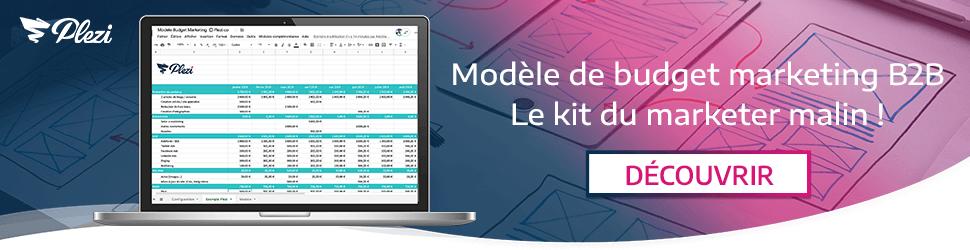 Télécharger notre modèle de budget marketing B2B