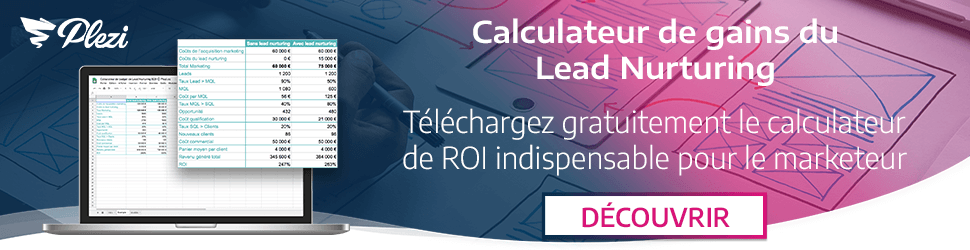 Télécharger notre calculateur du ROI avec le lead nurturing B2B