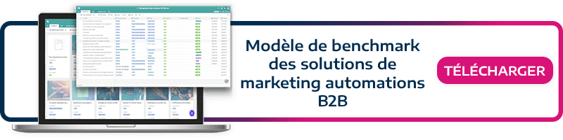 Téléchargez notre Kit Marketing ! Modèle de Benchmark des solutions de marketing automation B2B