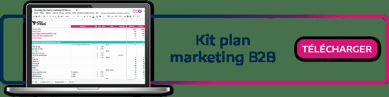 call to action permettant de télécharger gratuitement le modèle de plan marketing B2B