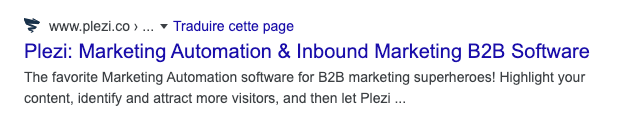 favicon displayed on google search result page