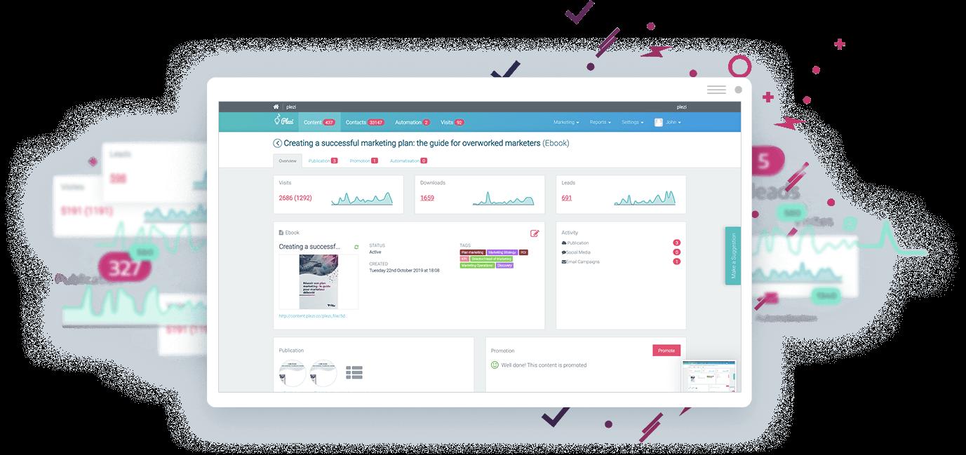 Marketing Automation B2B Software Plezi