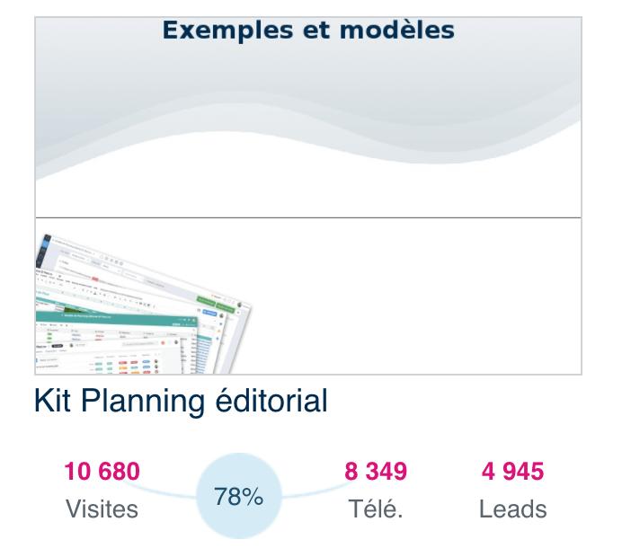 taux de conversion de la landing page d'un contenu dans Plezi