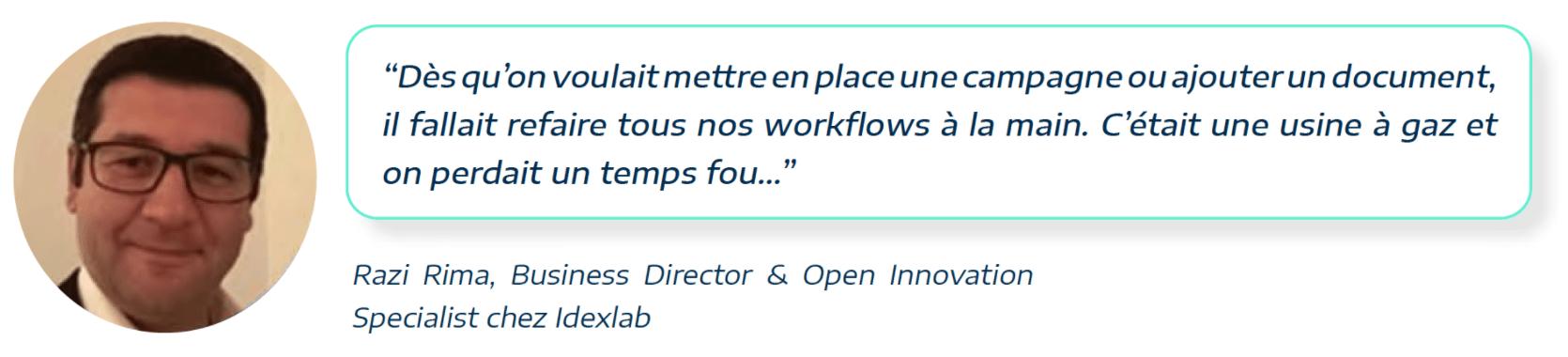 témoignage de Razi Rima de ideXlab à propos des workflows de hubspot