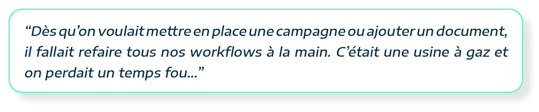 témoignage de Razi Rima de ideXlaba au sujet de la complexité des workflows pour faire du lead nurturing