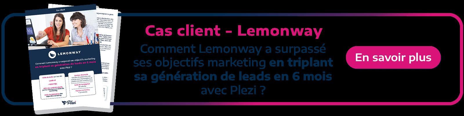 Call to action permettant de télécharger le cas client Lemonway