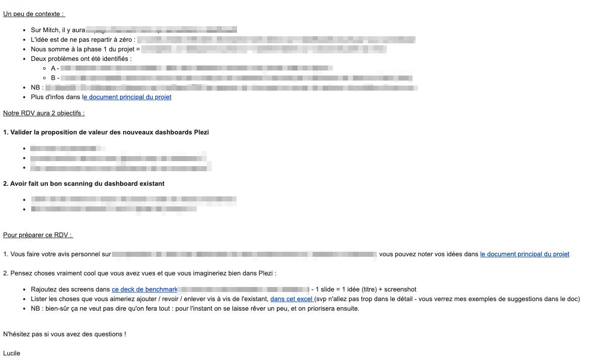 exemple d'email pour organiser une réunion efficace