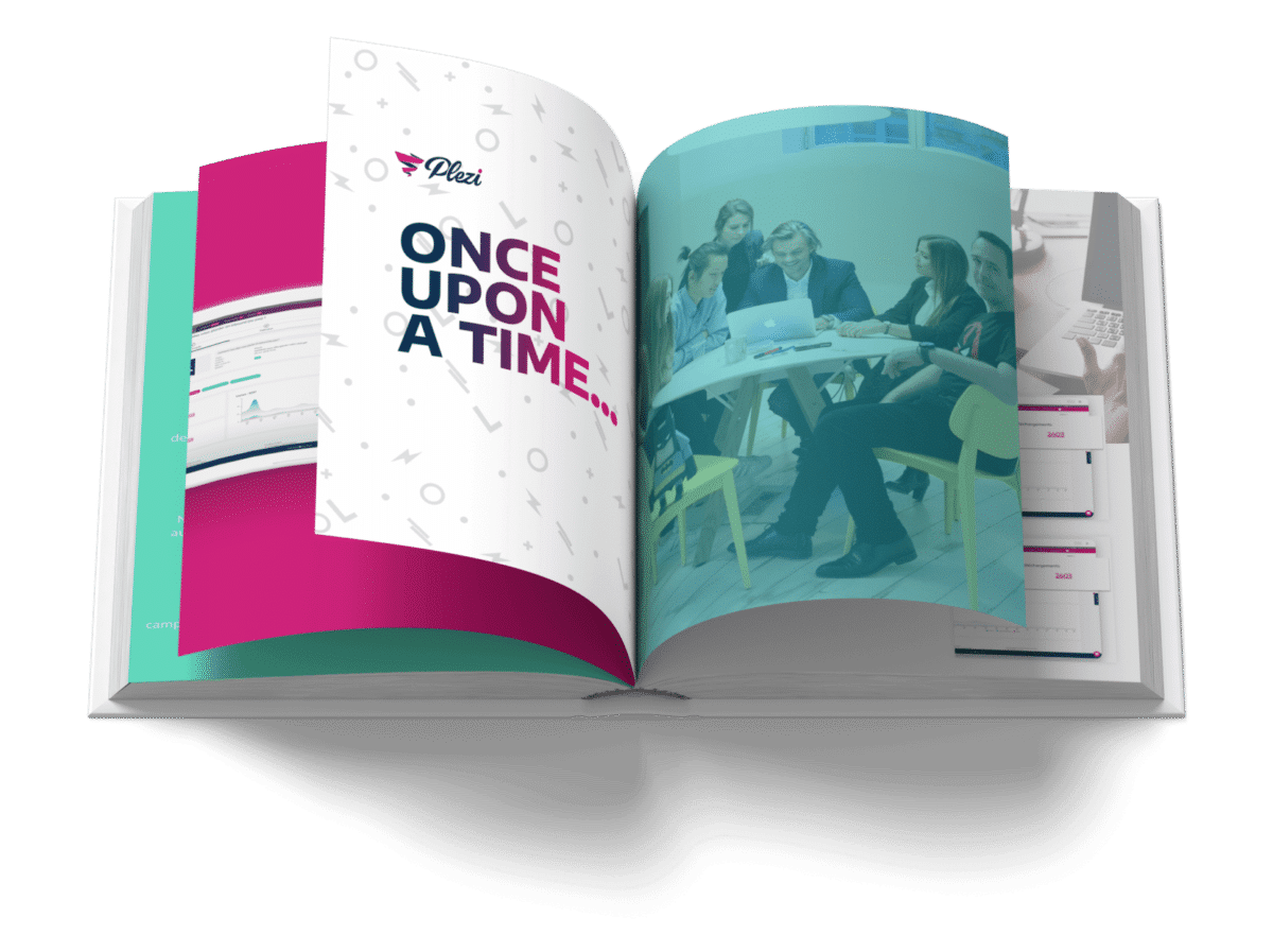 "book ""once upon a time"" to show the story of Plezi"
