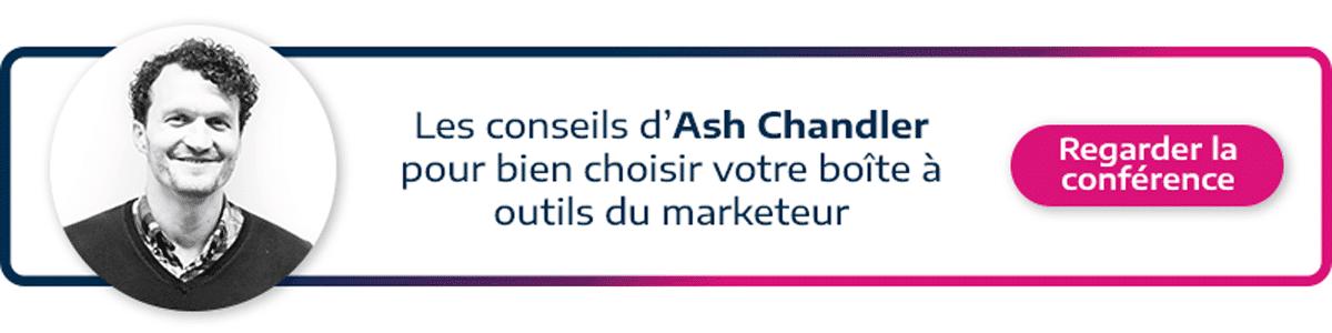 call to action permettant de visionner la conférence d'Ash Chandler