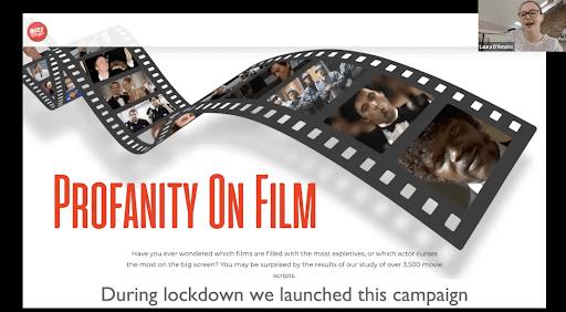 exemple de la campagne marketing profanity on film crée par l'agence Verve Search