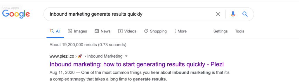 content cluster google