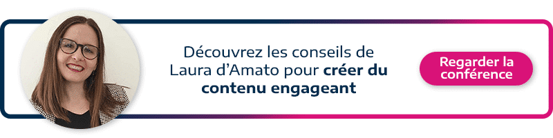 call to action permettant d'accéder à la conférence de Laura d'Amato de verve Searcn sur comment créer du contenu engageant et international