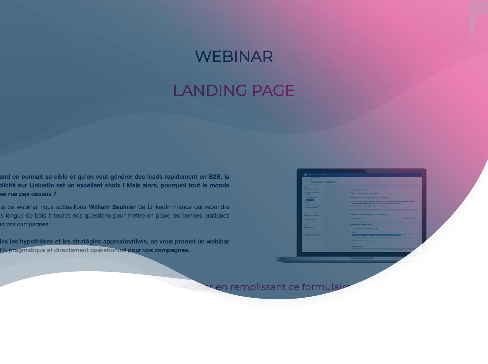 Webinar B2B: 4 exemples et une checklist pour créer une landing page qui convertit