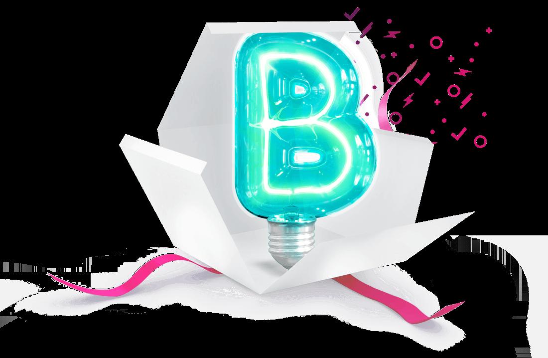 Cadeau ouvert avec un B dedans en référence au plan B