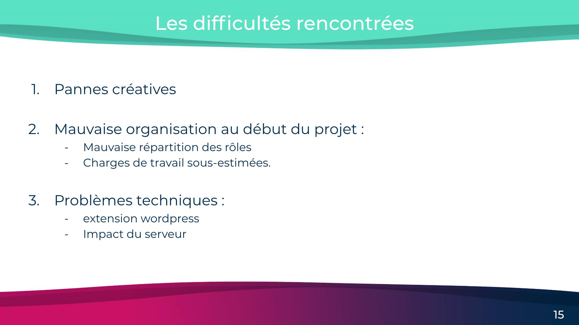 slide d'un webinar b2b présentant un retour d'expérience