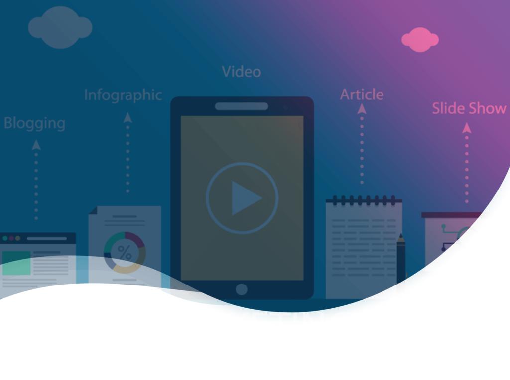 Header de l'article sur les types de contenus à créer en content marketing