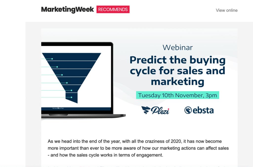 Marketing week ad