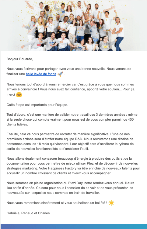 exemple emailing annonce