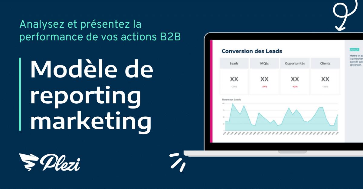 téléchargez le modèle de reporting marketing