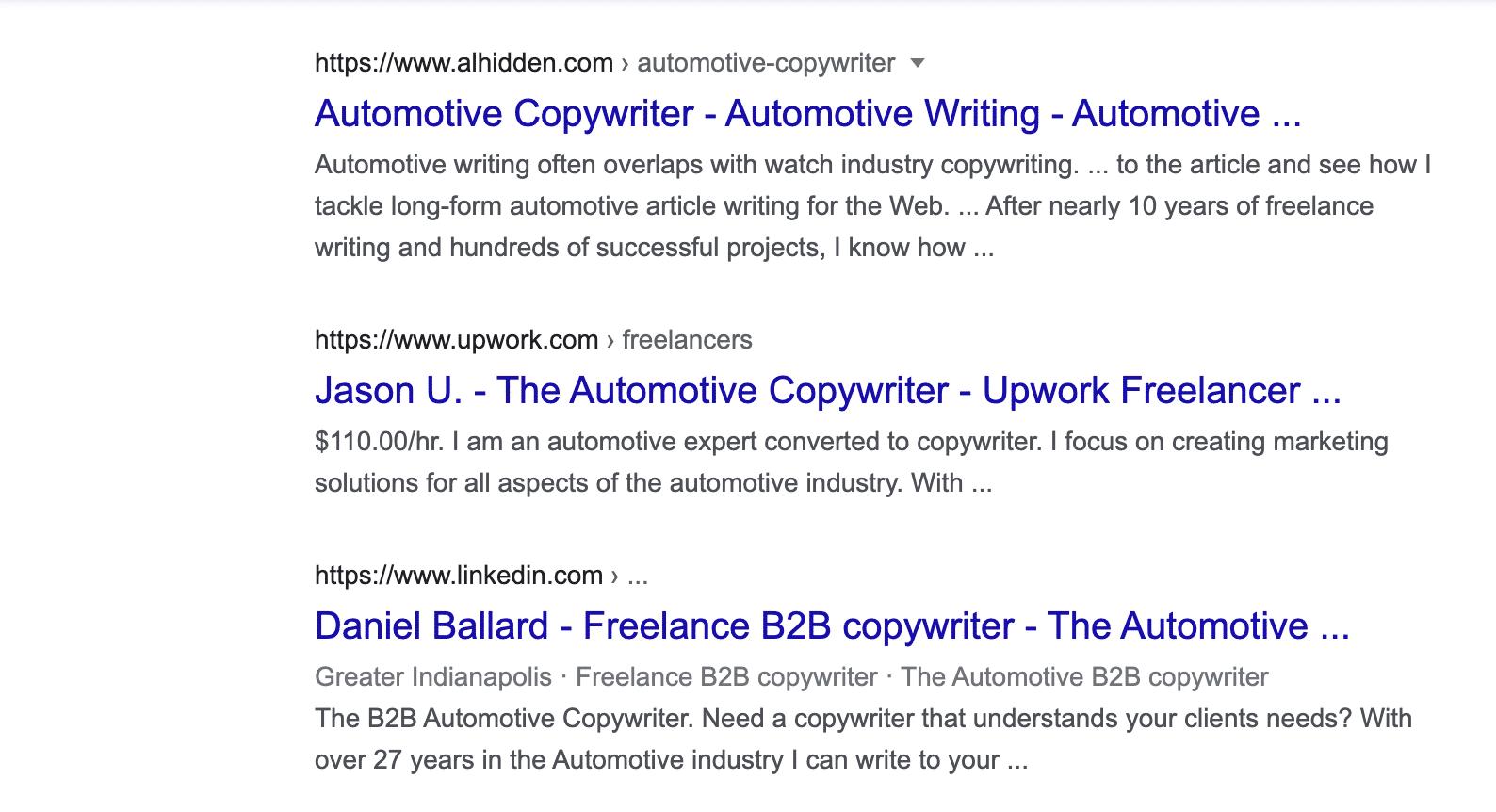 automotive copywriter 2
