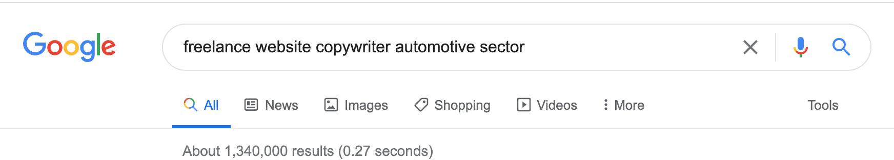 Google automotive copywriter