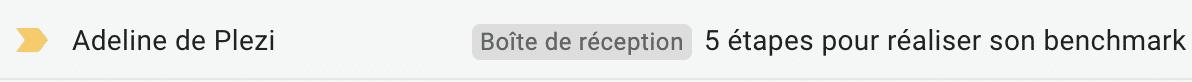 exemple d'un objet d'emailing avec un chiffre