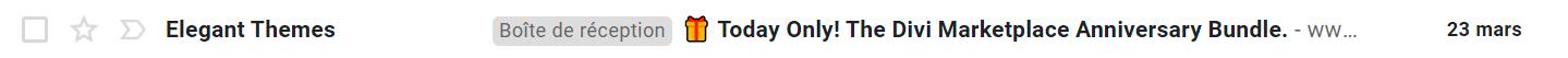 exemple d'emojis dans un objet de mail