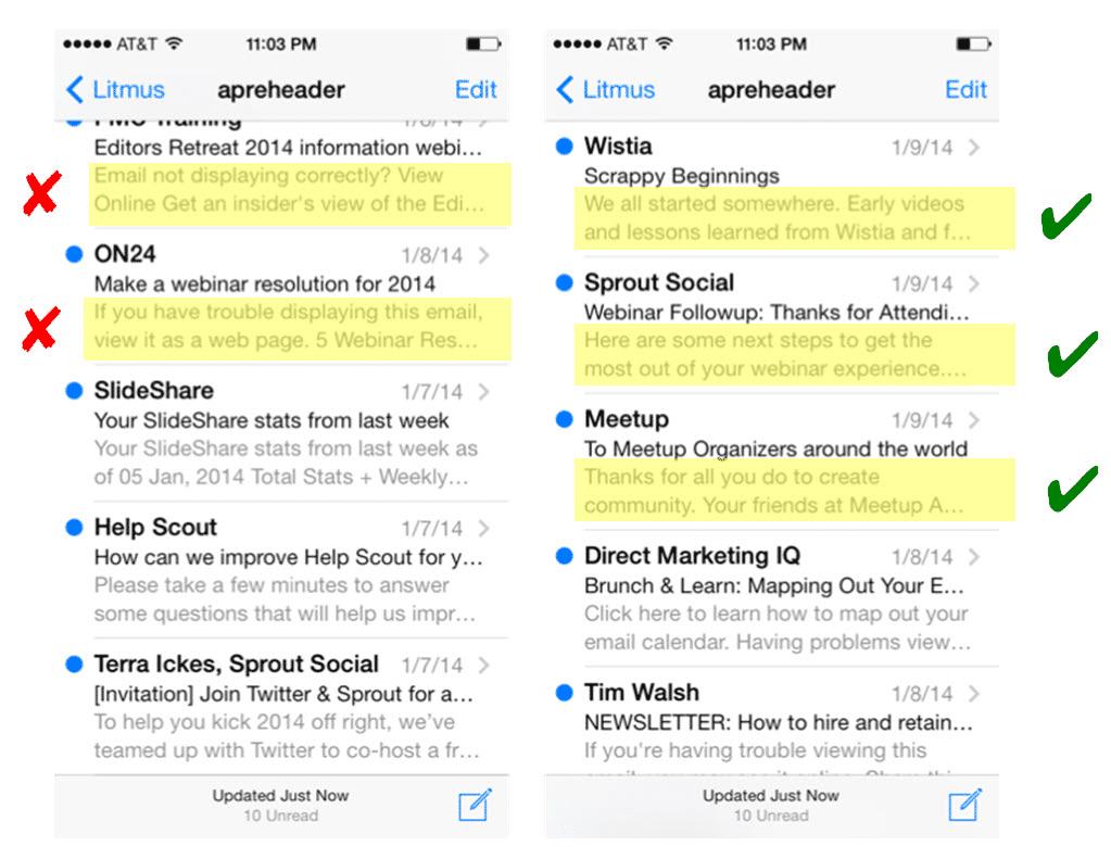 bonnes pratiques pour le pré-header de vos mails