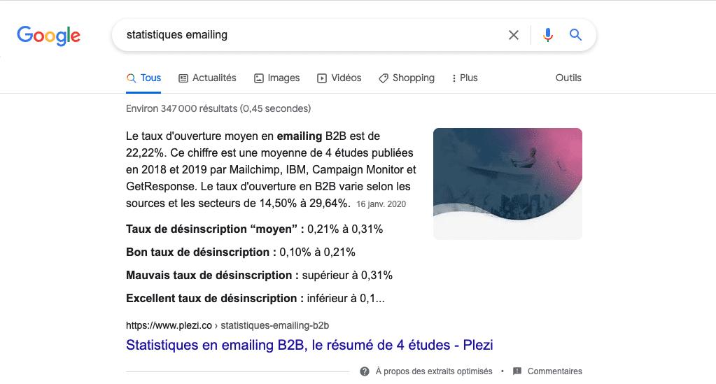 article plezi position 0 sur Google