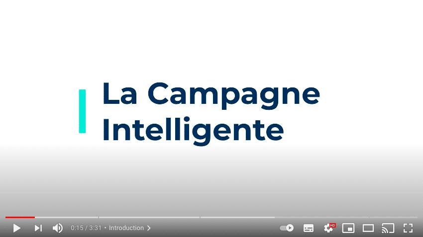 Aperçu cliquable de la vidéo de présentation de la fonctionnalité Campagne Intelligente de Plezi