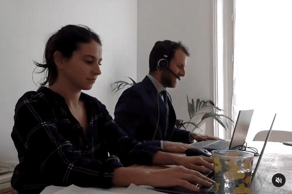 Aperçu d'une vidéo Instagram sur les coulisses de l'entreprise Plezi