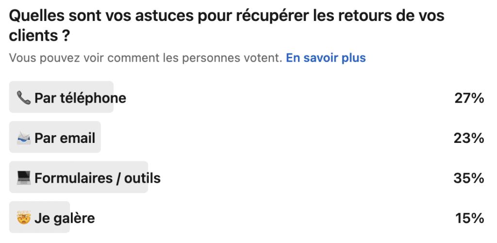 réponses au sondage