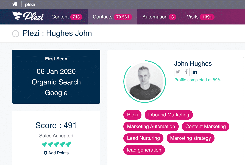 Lead profile scoring